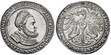 Los 3226: Kurfürstentum Sachsen. Friedrich III. der Weise. 1486-1525. Breiter Guldengroschen. Taxe: 12.500 EUR.