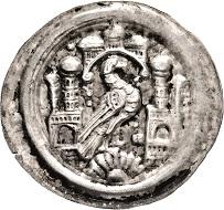 Los 3507: Ermsleben. Gräflich Falkensteinische Münzstätte. Burkhard II. 1142-1174. Brakteat. Taxe: 1.500 EUR.