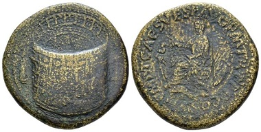 Lot 497: Titus, 79-81. Sestertius, 80/81. From the Clain Stefanelli collection. Extremely rare. Very fine / good fine. Starting Bid: 2.000 GBP.