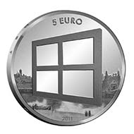 Netherlands - EUR 5 - silver plated copper - 10.5 g - 29.00 mm - max. 250,000 (circulation quality).