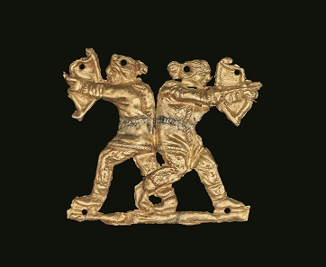 Gold applique showing two archers back to back, Kul' Oba, 400BC – 350BC © The Trustees of the British Museum.