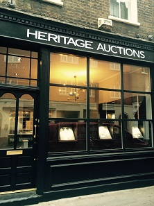 Heritage Auctions has opened a new office in London at 6 Shepherd Street.
