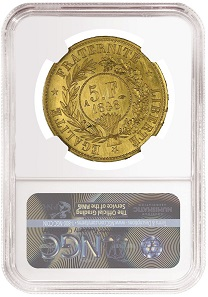 1848A Essai 5 Francs. Photo: NumisBids.