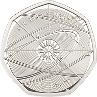 Great Britain / 50 Pence / Sterling Silver .925 / 8g / 27.3mm / Design: Jody Clark (obverse) and Aaron West (reverse) / Mintage: 7,000.