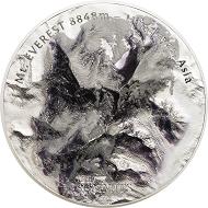 Cook Islands / 25 Dollars / Silber .999 / 5 Unzen / 65 mm / Auflage: 777.