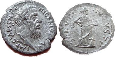Denarius Pescennius Niger Saluti Augusti.