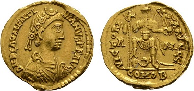 Rome. Solidus Valentinianus III.