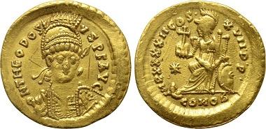 Solidus Theodosius II.