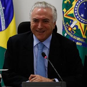 Michel Temer, President of Brazil since August 2016. Photo: Michel Temer - 06/07/2017 - Transmissao de Cargo de Presidente da República / Wikimedia Commons / CC BY 2.0.