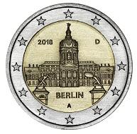 """Die 2-Euro-Gedenkmünze """"Schloss Charlottenburg""""."""