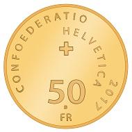 Schweiz / 50 Schweizer Franken / Gold .900 / 11,29 g / 25 mm / Design: Maya Delaquis, Gwatt / Auflage: 4.500.