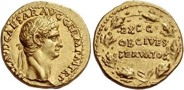 Los 119: Claudius, 41-54. Aureus 41-42, AV 7,74 g.