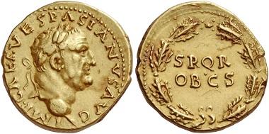 Los 504: Aureus des Vespasian, Antiochia 70, AV 7,78 g. I.