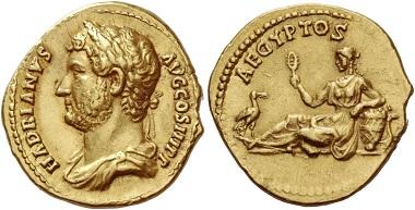 Los 514: Aureus des Hadrian, 134-138, AV 7,27 g.