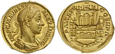 Los 543: Aureus des Severus Alexander, 226, AV 5,86 g.