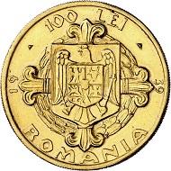 Karl II. 100 Lei 1939 auf den 100. Geburtstag von Karl I. Aus Sammlung Phoibos. Sehr selten. Vorzüglich. Taxe: 15.000,- Euro. Aus Künker Auktion 298 (28. September 2017), Nr. 4440.