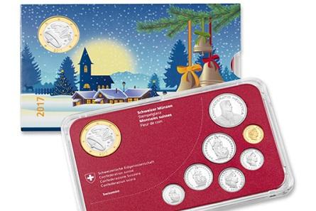 Schweiz / 8,85 Schweizer Franken / Umlaufmünzen: Kupfernickel und Aluminiumbronze; Medaille: Kupfernickel (Kern) und Aluminiumbronze (Ring ) / 171 mm x 106 mm x 8 mm / Design: Bea Würgler, Bern / Auflage: 5000.