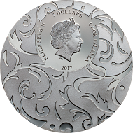 Scarab Selection II – Lunar Eclipse: Cook Islands / 5 Dollars / Silver .999 / 1 oz / 38.61 mm / Mintage: 499.