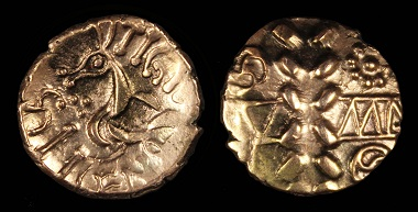Lot 200: Dumnocoveros, Tigirseno stater, AD 25-35. Good VF. Estimate: 6,300 NZD.
