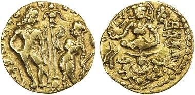 Lot 1350: India. Gupta. Skandagupta, ca. 449-467. Gold dinar. VF. Realized: 30,000 USD.