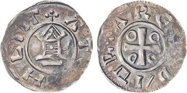 Der dem Münzkabinett geschenkte Otto-Adelheid-Pfennig.