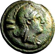 Römisches Aes Grave. Anonym. Dupondius 265/242 v. Chr., Rom. Äußerst selten. Gutes sehr schön. Ex Slg. Apostolo Zeno, 2657.