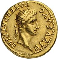 Los 108: Römisches Reich, Caligula. Aureus 40, mit Divus Augustus. Lugdunum. Fast vorzüglich. Taxe: 20'000 CHF.