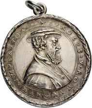 Los 2030: Deutschland. Augsburg. 1 1/2-facher Schautaler 1546 auf Karl V. Stempel von Lorenz Rosenbaum. Von grösster Seltenheit. Vorzüglich. Taxe: 5'000 CHF.