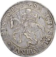 Los 4378: Schweiz, Uri, Schwyz und Unterwalden. Taler 1548. Stempelschneider Hans Schweiger. Sehr selten. Gutes sehr schön. Taxe: 7'500 CHF.