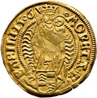 Los 5063: Basel; Reichsmünzstätte. Maximilian I. Goldgulden 1506. Fast vorzüglich. Taxe: 3'000 CHF.