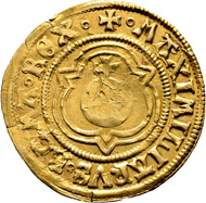 Lot 5063: Basel; Imperial mint. Maximilian I. Goldgulden 1506. Almost extremely fine. Estimate: 3'000 CHF.