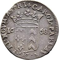 Los 5641: Neuchâtel; Karl-Paris v. Orléans-Longueville. 10 Kreuzer 1668. Sehr schön. Taxe: 6'000 CHF.
