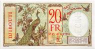 Los 7163: Französische Territorien/Somaliland. 20 Francs o. J. Specimen. Äusserst selten und sehr attraktiv. Taxe: 1'000 CHF.