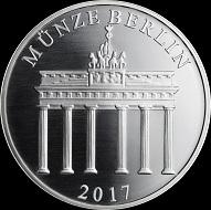 60 Jahre Regierender Bürgermeister Willy Brandt / Silber .333 / 32,5 mm / Auflage: 1000.