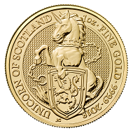 Great Britain / GBP 100 / Gold .9999 / 1 oz / 32.69mm / Design: Jody Clark.