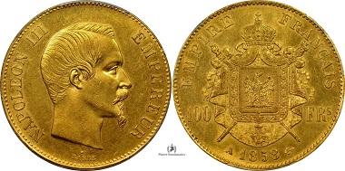 100 Francs 1858 France.