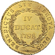 Lot 326: Bern. IV ducats 1798. HMZ 2-209l. 35.4 mm.
