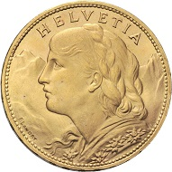 Lot 345: Swiss Confederation. 100 Francs 1925. HMZ 2-1193. 38.7 mm.