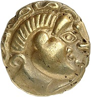 Lot 20. Celts. Treveri. 1/4 gold stater. Very rare. Very fine. Estimate: 2,500 euros.