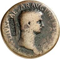 Lot 264. Claudius, 41-54. Sestertius, countermark NCAPR. Coin fine, countermark very fine. Estimate: 150 euros