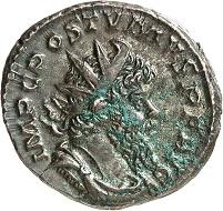 Lot 458. Postumus, 260-269. Antoninianus, Cologne. Very rare. Very fine to extremely fine. Estimate: 500 euros