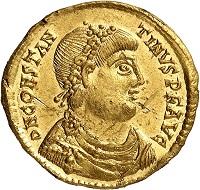Lot 672. Constantinus III, 407-411. Solidus, Trier. Rare variant. FDC. Estimate: 9,000 euros