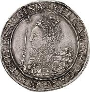 Lot 731. England. Elizabeth I, 1558-1603. Crown, no date (1601-1602). Very rare. Very fine. Estimate: 5,000 euros