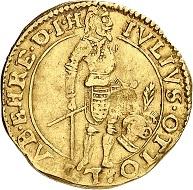 Lot 1081. Switzerland / Grisons / Haldenstein. Julius Otto I von Schauenstein, 1628-1666. Ducat 1642. Extremely rare. Very fine. Estimate: 10,000 euros