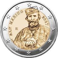San Marino - 2 EUR - Gedenkmünze 2007: Giuseppe Garibaldi.