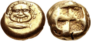 Lot 140: Kyzikos (Mysia). Electrum stater, circa 550-450 BC. VF. Estimate: 3000 USD.