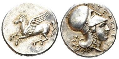 Lot 62: Sicily, Syracuse. Corinthian stater, circa 334-317. Extremely fine. Starting bid: 600 GBP.