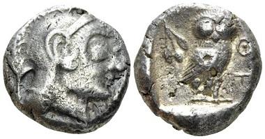 Lot 95: Attica, Athens. Tetradrachm, circa 495-480. Very rare. About very fine. Starting bid: 2000 GBP.