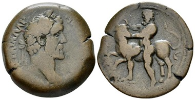 Lot 419: Egypt, Alexandria. Antoninus Pius, 138-161. Drachm, circa 141-142 (year 5). From the Dattari collection. Extremely rare. Very Fine. Starting bid: 700 GBP.