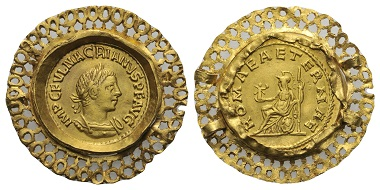 Los 201: Macrianus, 260-261 n. Chr. Aureus.